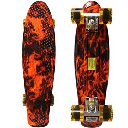 Rimable Complete 22″ Skateboard (fire skull)