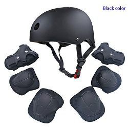 Kids Youth Sports Protective Gear Set with Helmet Elbow Knee Wrist Safety Pad Safeguard for Roll ...