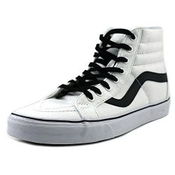 Vans SK8 Hi Reissue Canvas True White/Black Men's Skate Shoes Size 9