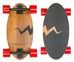Mini Longboard Skateboard made with Bamboo Wood. Its 19 inch Cruiser Skateboard Deck makes it th ...