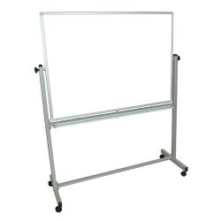 Mobile Magnetic Whiteboard 48″W x 36″H Silver Frame