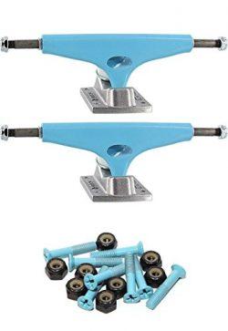 Krux Trucks Standard 5.625″ Skateboard Trucks with 1″ Light Blue Mounting Hardware