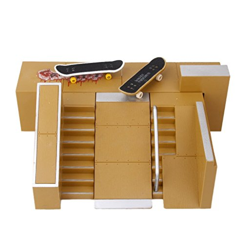 ZYAQ Skate Park Skatepark Kit Ramp Parts for Tech Deck Fingerboard Finger Skateboard Ultimate Pa ...
