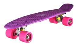 Ridge Skateboards Big Brother Large Retro Cruiser – Purple/Pink Wheels, 27 Inch
