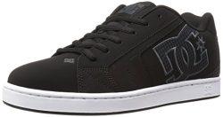 DC Men's Net SE-K Skateboarding Shoe, Black/Black, 8 M US
