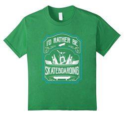 Kids Skateboard Clothes Tee-Shirt – I'd Rather Be Skateboarding 8 Grass