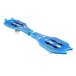 Caster Board Peatao Skateboard Classic Waveboard with 360-Degree Inclined Casters, Light Up Whee ...