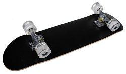 Shop4Omni Full Size Maple Deck Skateboard with Set of Cruiser Wheels (Black)