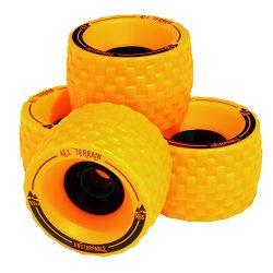 MBS All-Terrain Longboard Wheels (4), Orange