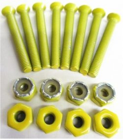 Everland 1.5″ Skateboard Hardware Screws (Yellow)
