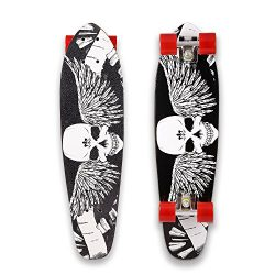 ANCHEER Skateboard 27 Cruiser Style Canadian Maple Wood Complete Full Size Skate Board 27″ ...