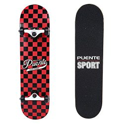 PUENTE NACATIN 602 Skate Skateboards for Adults and Kids Beginners, ABEC-9 Bearing,95A Anti-Slip ...