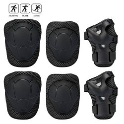Banne Kids Protective Gear, Knee Elbow Wrist Pads for Skateboarding Inline Roller Skating Cyclin ...