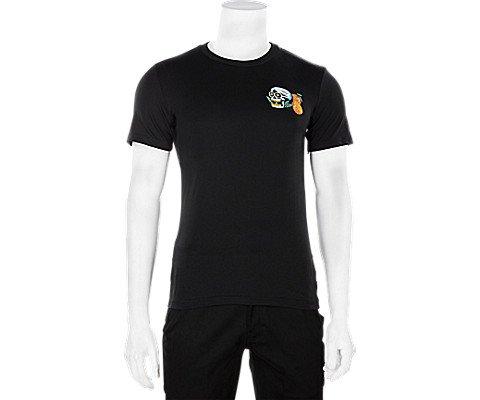 adidas Originals Men's Skateboarding Tropic Skull Tee, Black/White/Orange, L
