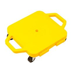 Cosom 12 Inch Plastic Childrens Scooter Board With 2 Inch Non-Marring Metal Casters and Safety G ...