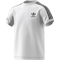 adidas Originals Big Boys' Originals California Tee, White/Black, M