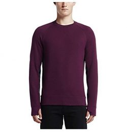 Nike Men's SB Everette Graphic Fleece Crew Skateboarding Sweatshirt-Mulberry-Large