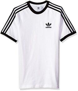 adidas Men's Originals 3 Stripes Tee, White, M