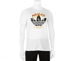 adidas Originals Men's Skateboarding Yaia Shock Tee, White/Black/Collegiate Orange/Bold Go ...