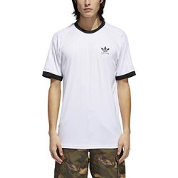 adidas Originals Men's Skateboarding Clima Club Jersey, White/Black, M