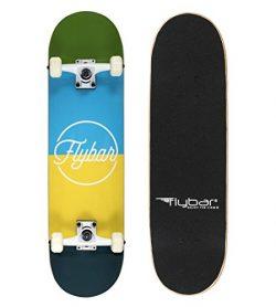 "Flybar Complete Skateboards 31"" x 8"" 7 Ply Maple Wood Board (Blocks)"