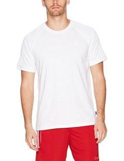 adidas Originals Men's Tops Skateboarding California Tee, White, Large