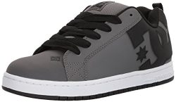 DC Men's Court Graffik Skate Shoe, Grey/Grey/Black, 9.5 D US