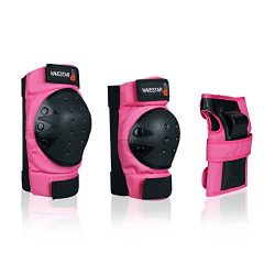 NAVESTAR Knee Pads Elbows Pads Wrist Guards 3 in 1 Protective Gear Set for Skateboarding, Inline ...