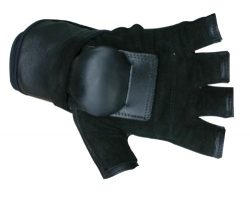 Hillbilly Wrist Guard Gloves – Half Finger (Black, Large)