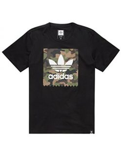 adidas Originals Men's Tops Skateboarding Camo Blackbird Tee, Black, XX-Large