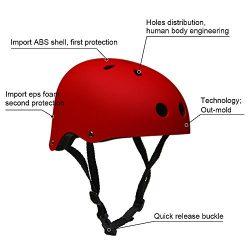 Adult Skateboard Helmet 11-Vents Adjustable Straps Protective Skiing Skate Bike Cycling Helmet M ...