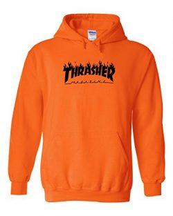 Karma t shirts Thrasher Magazine | Skateboarding | Black Design | Mens Orange Hooded Sweatshirt  ...