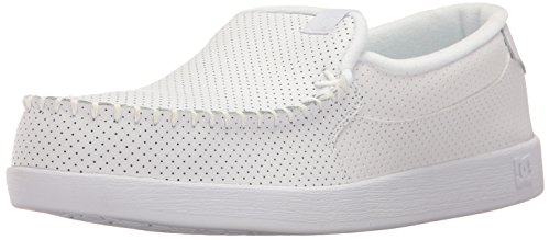 DC Men's Villain TX Slip-on Skate Skateboarding Shoe, White, 9 D D US