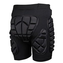 Adult 3D Hip EVA Padded Short Protective Gear for Skiing Skating Snowboard Impact Protection (XXXL)