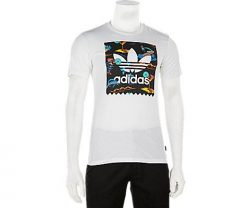adidas Originals Men's Skateboarding Blackbird Resort Print Tee, White, M