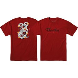 Primitive Skateboarding DBZ Shenron Nuevo Cardinal Men's Short Sleeve T-Shirt – X-Large