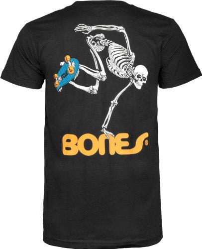 Powell-Peralta Skateboard Skeleton Black T-Shirt, XX-Large