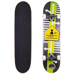 Cal 7 Skater Xing 7.5 Complete Skateboard, 52×31 99A PU
