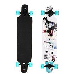 "41"" x 9"" Skateboard LongBoard, 9 Layer Maple Wood Drop Down Long Board Complete Cruiser Skateboa ..."
