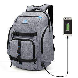 Srotek Laptop Backpack Large Computer Skateboard Backpack Water-resistant Outdoor Business Rucks ...