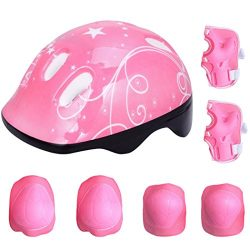 Fansport 7PCS Kids Protective Gear Cycling Protective Gear Sport Skateboarding Helmet with Knee  ...