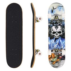 dongchuan Skateboard Complete Profession Wood Full Size Skate Board 31″x 8″, Christm ...
