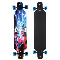 Goldenfox Longboard Unisex Drop Down Long Board Complete Skateboard Maple Wood Cruiser Skateboar ...