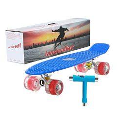 Landwalker 22″ Complete Skateboard Banana Cruiser Galaxy Skateboards Boys Girls Kids Board ...