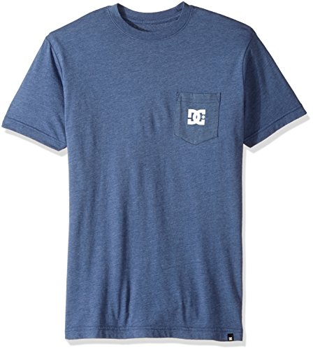 DC Men's Solo Star 2 Short Sleeve T-Shirt, Washed Indigo, Medium