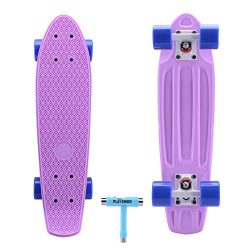 "Playshion 22"" Mini Cruiser Skateboard For Beginner (With Skate Tool)"