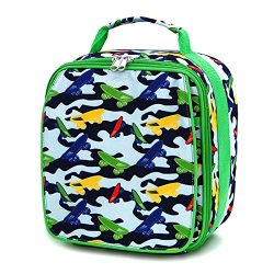 Insulated Water Resistant Lunch Bag for kids children Thermal Lunchbox Camo Skateboard