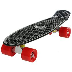 Kaluo 22 Inch Cruiser Skateboard 4 wheel Mini Complete Deck Fish Board with Bendable Deck and Sm ...