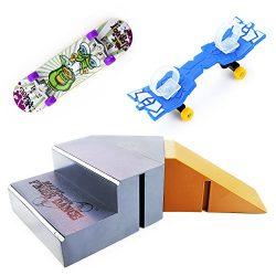 WFPLUS Skate Park Kit Ramp Parts for Tech Deck Circuit Board Mini Finger Skateboard Fingerboards ...