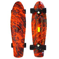 Scale Sports 27 Skateboard Complete Street Retro Cruiser Print Deck